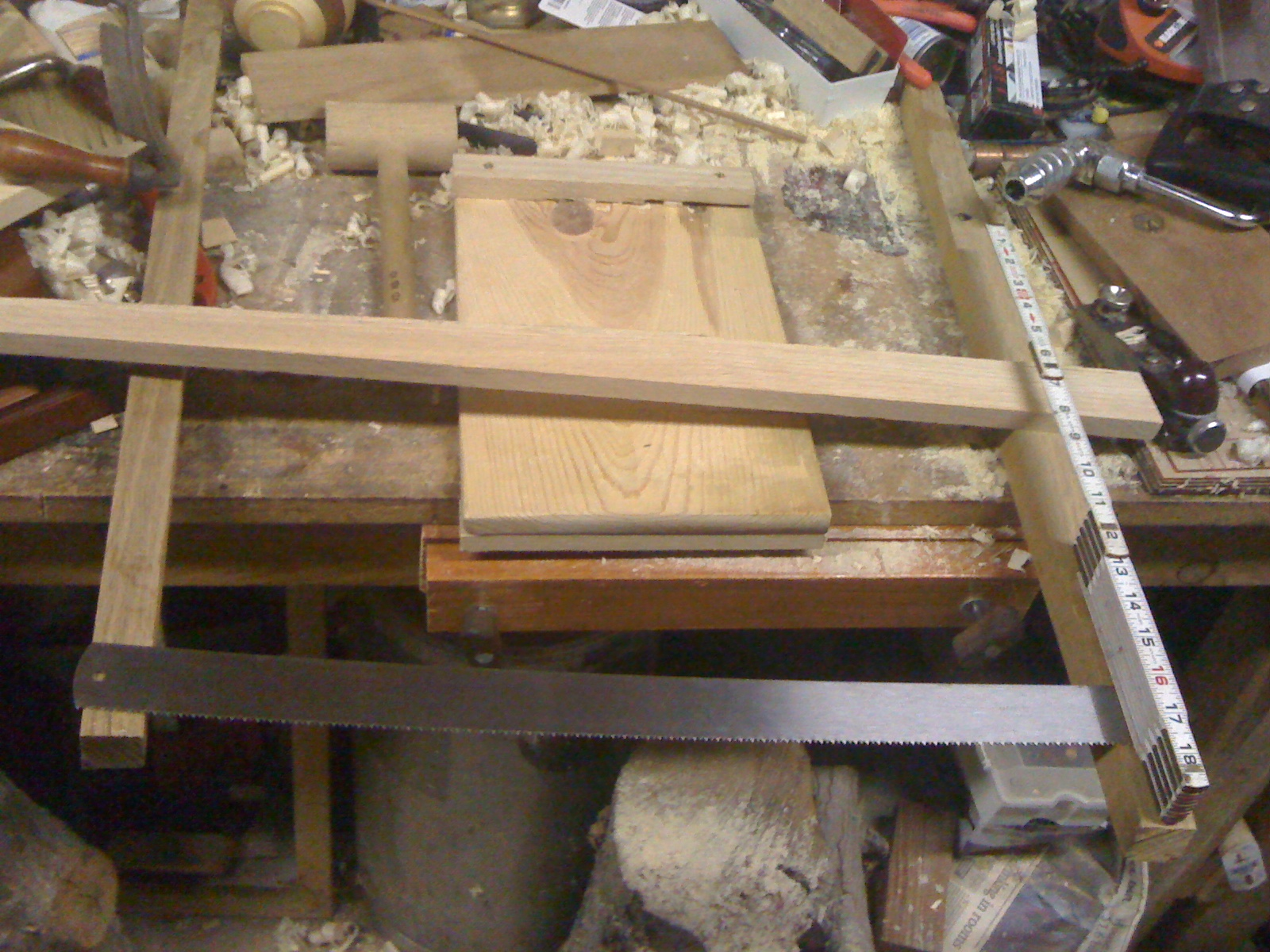 bow saw uses. i laid out the blade, and used my little one for rough proportions to use. cut a couple of 4\u2033 sections use as handles, set work bow saw uses