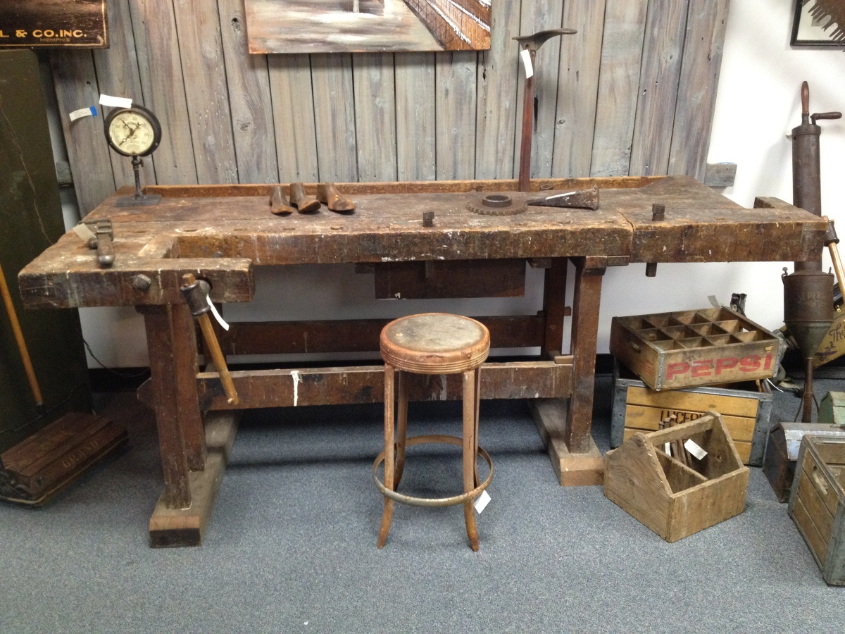 Old German Workbench Badger Woodworks