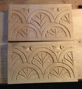 Alder carving tests with new chisel.