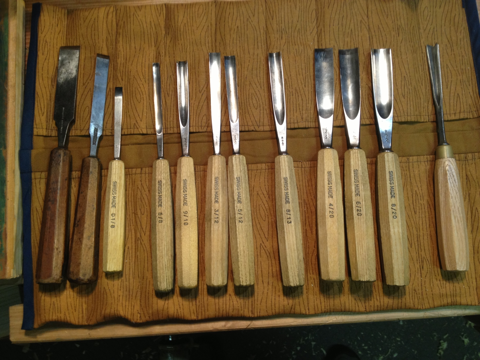 My carving tool kit badger woodworks