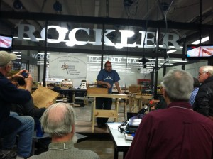 Doing the Demo at Rockler