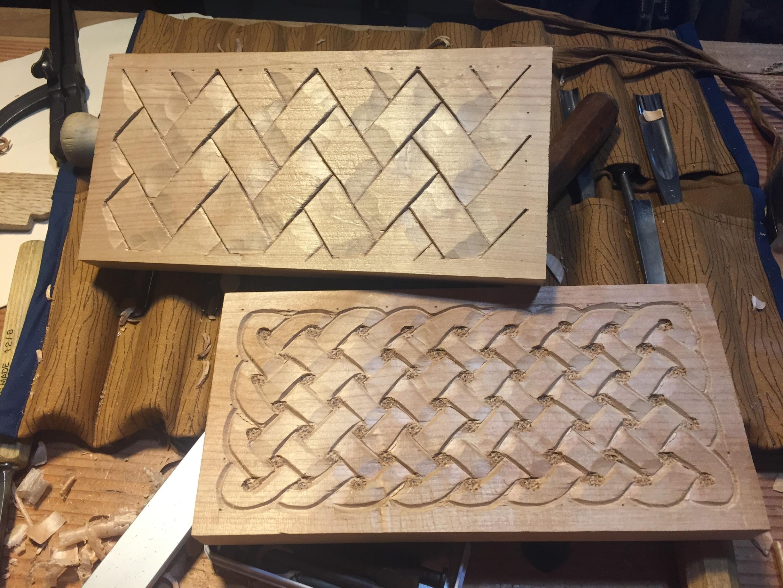 Carving A Basket Weave Pattern On A Gunstock : Carving badger woodworks
